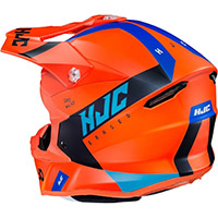 Hjc I50 Erased Helmet Orange Blue