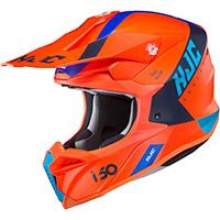 Casco Hjc I50 Erased Arancio Blu