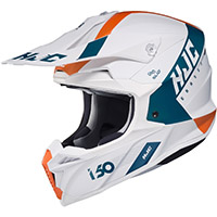 Casco Hjc I50 Erased Bianco Blu Arancio