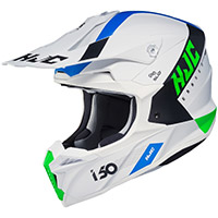 Hjc I50 Erased Helmet White Blue