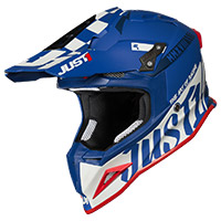 Just-1 J12 Pro Racer Helmet White Blue Matt
