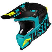 Casco Just-1 J12 Pro Racer Blu Carbonio
