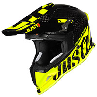 Casco Just-1 J12 Pro Racer Giallo Fluo Carbonio