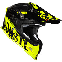 Just-1 J12 Pro Racer Helmet Yellow Fluo Carbon