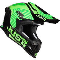 Just-1 J12 Syncro Helmet Fluo Green Carbon