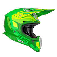 Casco Just-1 J18 Mips Pulsar Verde Lime Opaco