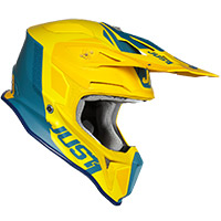 Casco Just-1 J18 Pulsar Giallo Blu Opaco