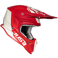 Casco Just-1 J18 Pulsar Rosso Bianco