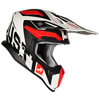 Casco Just-1 J18 Virtual Rosso Fluo Bianco