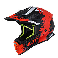 Just-1 J38 Mask Helmet Orange Fluo Titanium Matt