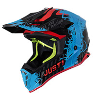 Just-1 J38 Mask Helmet Blue Red Black