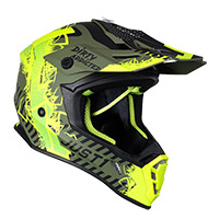 Casco Just-1 J38 Mask Giallo Nero Verde Opaco