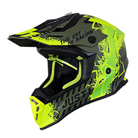 Just-1 J38 Mask Helmet Yellow Black Green Matt
