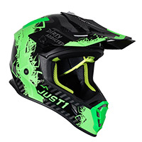 Casco Just-1 J38 Mask Verde Fluo Titanio