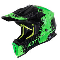 Just-1 J38 Mask Helmet Green Fluo Titan