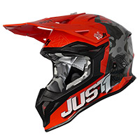 Casco Just-1 J39 Kinetic Camo Arancio Lucido