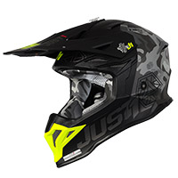 Casque Just-1 J39 Kinetic Camo Gris Amarillo