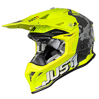 Just-1 J39 Kinetic Helmet Camo Yellow Lime Matt