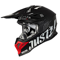 Just-1 J39 Rock Helmet Red Black Matt