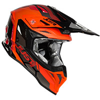 Casco Just-1 J39 Reactor Arancio Fluo Nero