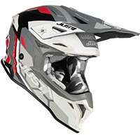 Just-1 J39 Reactor Helmet White Red Grey