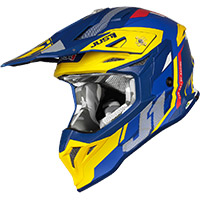 Casco Just-1 J39 Reactor Giallo Blu Opaco