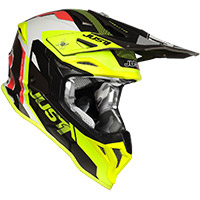 Just-1 J39 Reactor Helmet Fluo Yellow Red Titanium