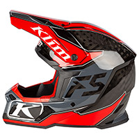 Casco Klim F5 Shred High Risk Rosso