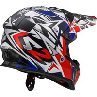 Ls2 Fast Mini Mx437j Strong White/red/blue
