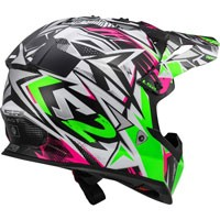 Ls2 Fast Mini Mx437j Strong Bianco/verde/rosa Bimbo