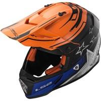 Ls2 Fast Mx437 Core Nero Opaco/arancio Lucido
