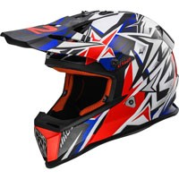 Ls2 Fast Mx437 Strong Bianco/blu/rosso