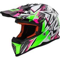 Ls2 Fast Mx437 Strong Bianco/verde/rosa