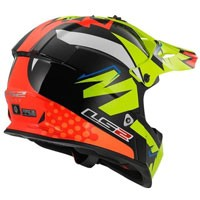Ls2 Fast Mx437 Volt Noir/orange/jaune H-v