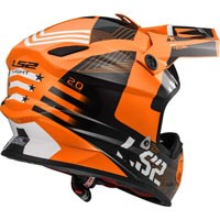 Ls2 Light Evo Mx456 Rallie Arancio/nero