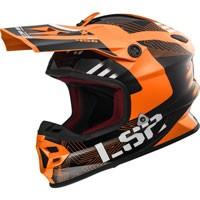 Ls2 Light Evo Mx456 Rallie Arancio/nero