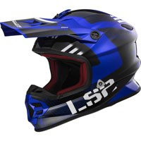 Ls2 Light Evo Mx456 Rallie Blu/nero