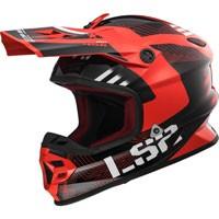 Ls2 Light Evo Mx456 Rallie Rosso/nero