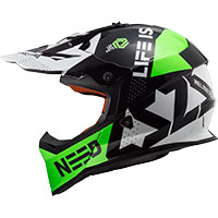 Ls2 Fast Mx437 Block Black Green
