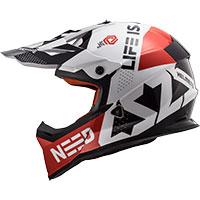 Ls2 Fast Mx437 Block Bianco Rosso