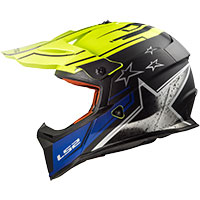 Ls2 Fast Mx437 Core Matt Black/h-v Yellow