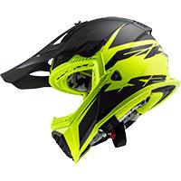 Ls2 Mx437 Fast Evo Roar Nero Opaco Giallo Hv