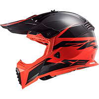 Ls2 Mx437 Fast Evo Roar Nero Opaco Rosso