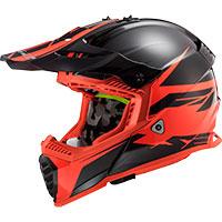 LS2 MX437 Fast Evo Roar negro mate rojo