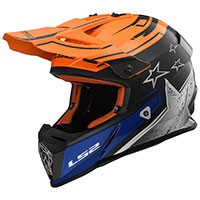 Ls2 Fast Mx437 Core Matt Noir/glos Orange