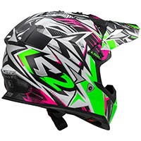 Ls2 Fast Mx437 Strong White/green/pink