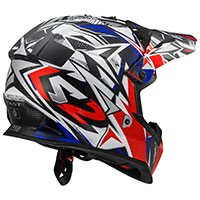 Ls2 Fast Mx437 Strong Blanc/rouge/bleu