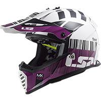 Casco LS2 MX437 Fast Evo XCode blanco violet
