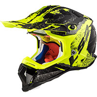 Ls2 Mx470 Subverter Claw Matt Black H-v Yellow