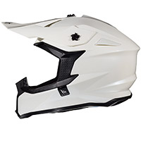 Mt Helmets Falcon Solid A0 blanco